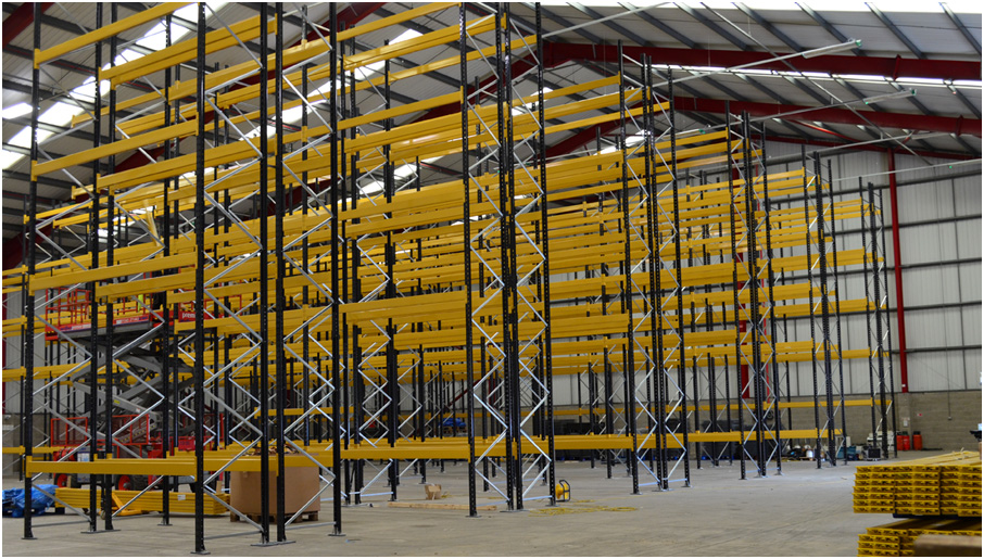 Wide aisle Pallet Racking